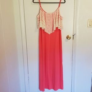 Rebellious One Maxi Dress Coral